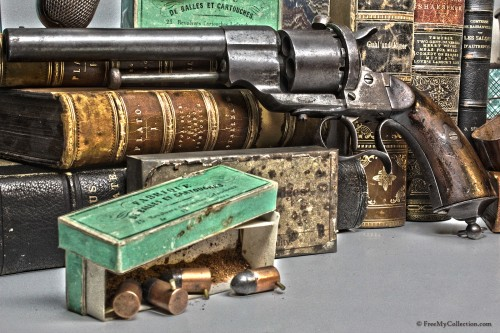 French Model 1858 12mm Pinfire Revolver