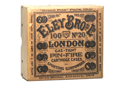 Eley-20-Gauge-Pinfire-Shotshell-Box