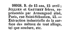 Earliest patent listing the original name of the company from 15 April 1873