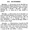 'Archives commerciales de la France - No. 88-89 - noviembre 5, 1876' - Original company was dissolved by means of an act dated October 20, 1876, with an ending date given as August 23, 1876