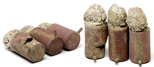 Excavated Christian Sharps Pinfire Cartridges