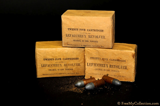 C. D. Leet Pinfire Boxes and Cartridges