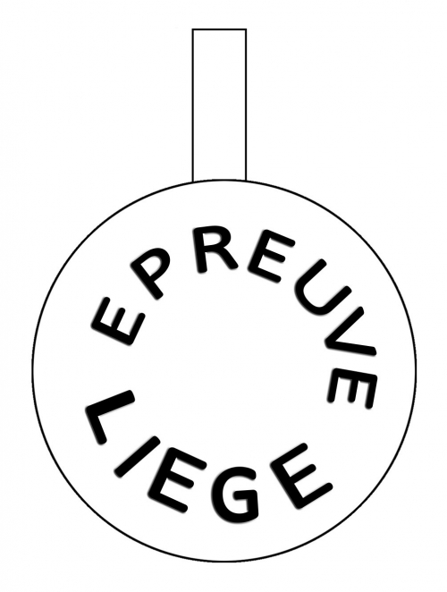 Drawn Picture of Cartouchière Belge headstamp