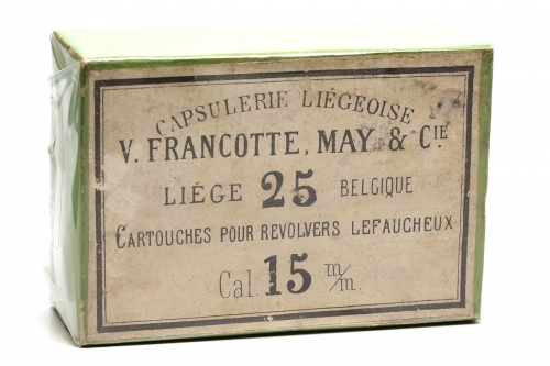 Picture of V. Francotte, May et Cie. Pinfire Cartridge Box