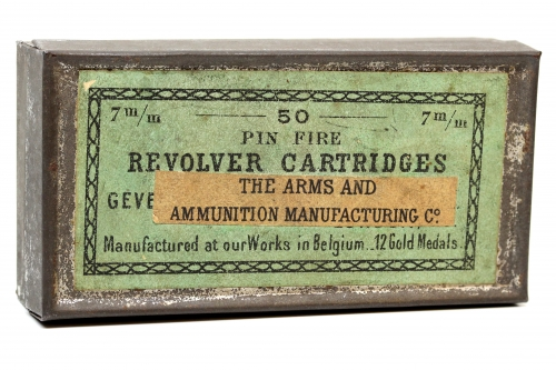 Picture of Arms and Ammunition Manufacturing Company Pinfire Cartridge Box