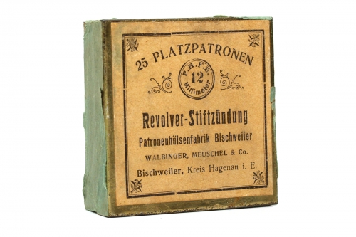 Walbinger, Meuschel & Co. Pinfire Box